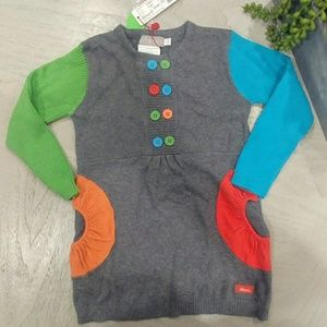 Gorgeous colorblock colorful sweater dress 2tgirls